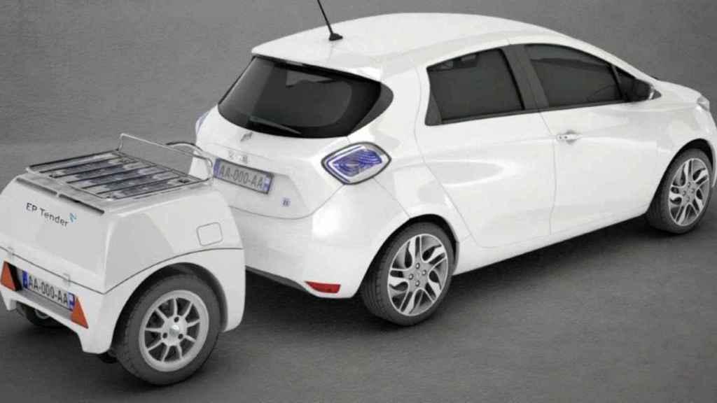 El remolque añadiría 60 kWh a nuestro coche