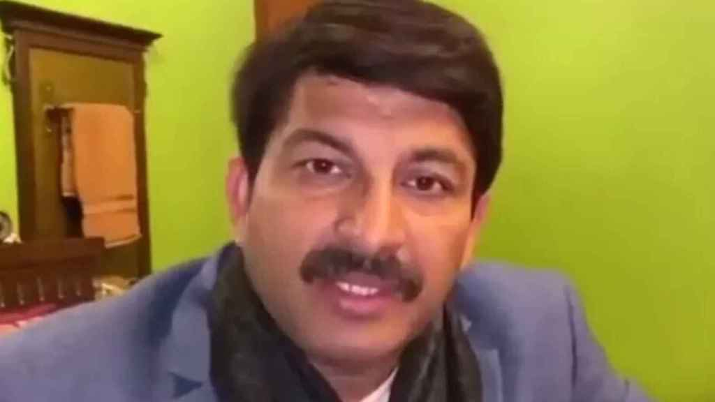 Manoj Tiwari, político indio que ha usado los llamados 'deepfakes'.
