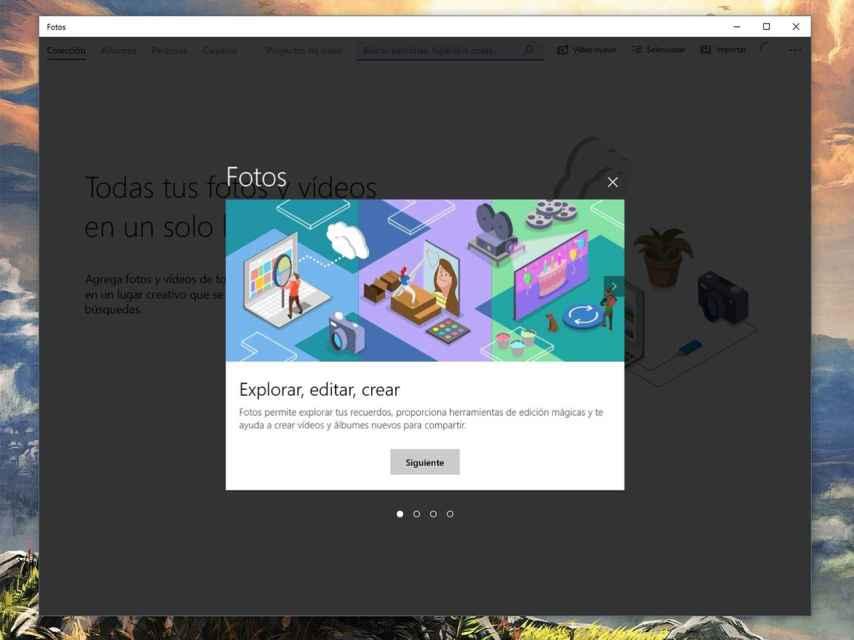 Editor de vídeos en la app de fotos de Windows.