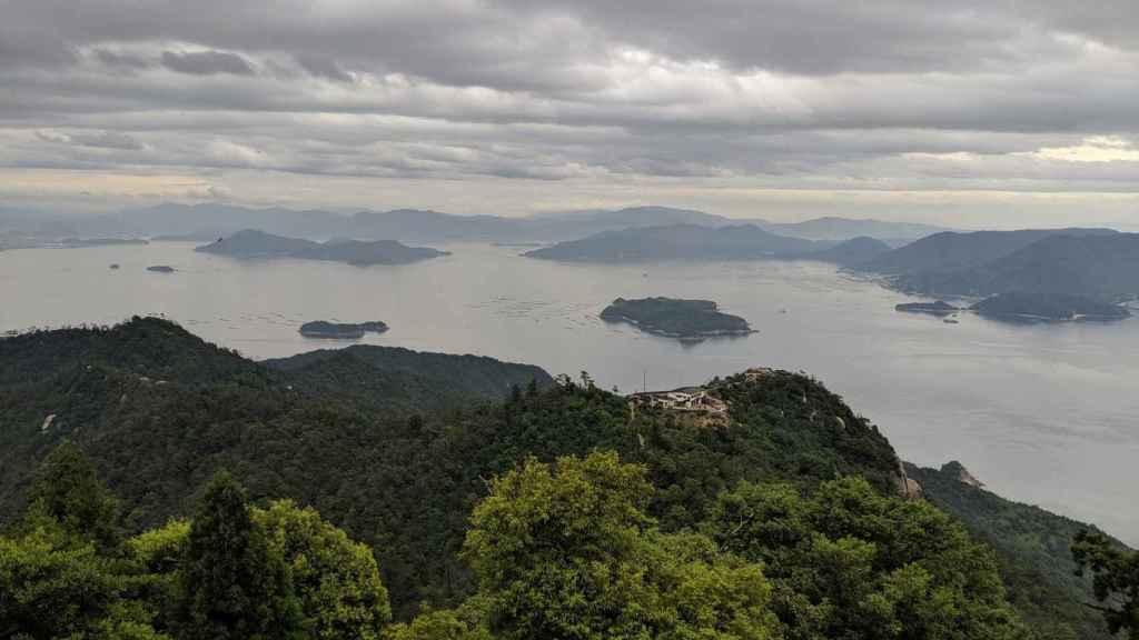 Vistas desde lo alto del mirador de Miyajima