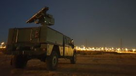 El lanzador de misiles instalado sobre un VAMTAC ST5, sistema al que se le conoce como 'jabalí'.