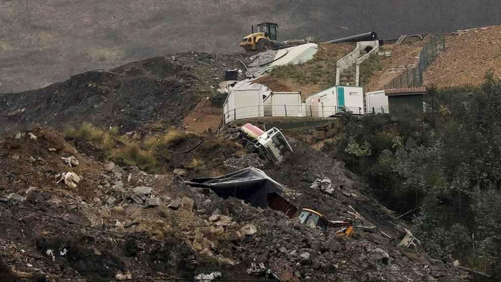 El vertedero de Zaldibar, donde se produjo el desprendimiento.