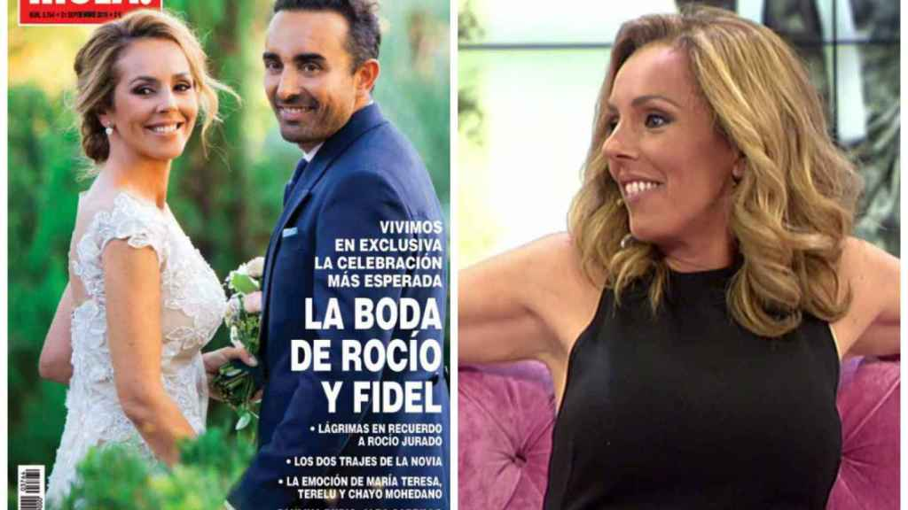 Rocío en la portada de una revista, vía exclusiva, y en el programa 'Hable con ellas' en 2014.