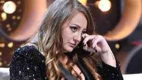 Rocío Flores, durante una de sus intervenciones en 'GH VIP' como defensora de su padre (Telecinco)