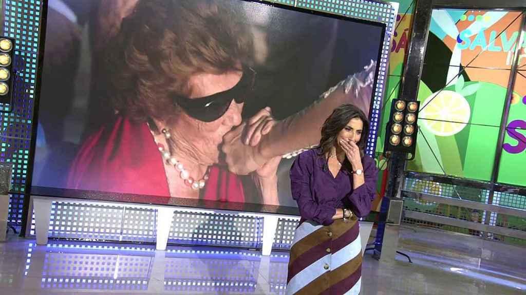 Paz Padilla no ha podido contener la emoción al recordar a su madre.