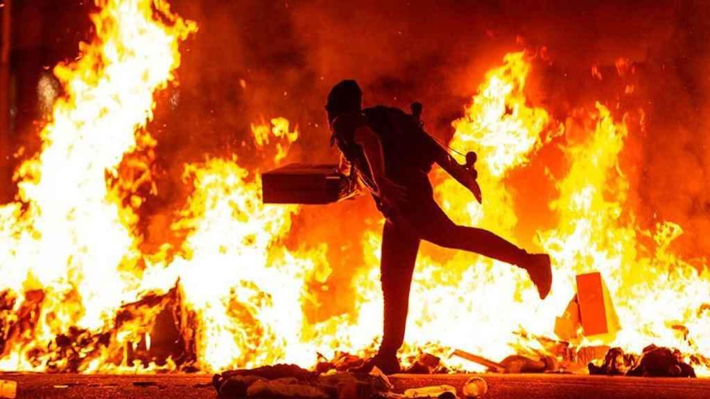 Imagen de archivo de los disturbios que se registraron en Cataluña.