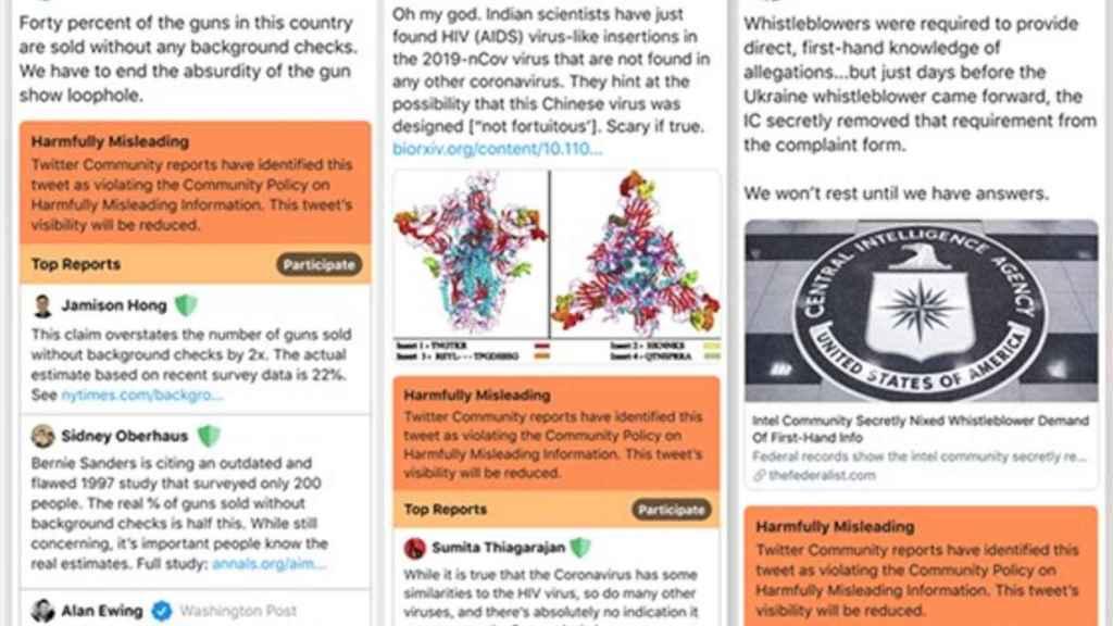 Noticias marcadas como engañosas en Twitter