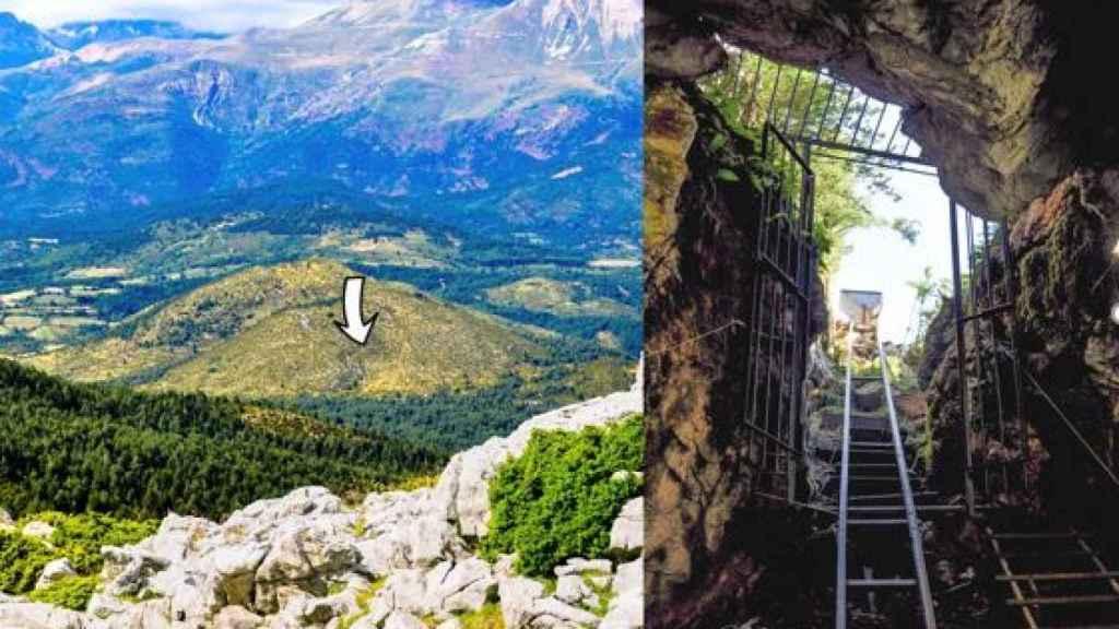 Localización y acceso a la cueva de Els Trocs.