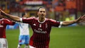 Ibrahimovic celebrando un gol