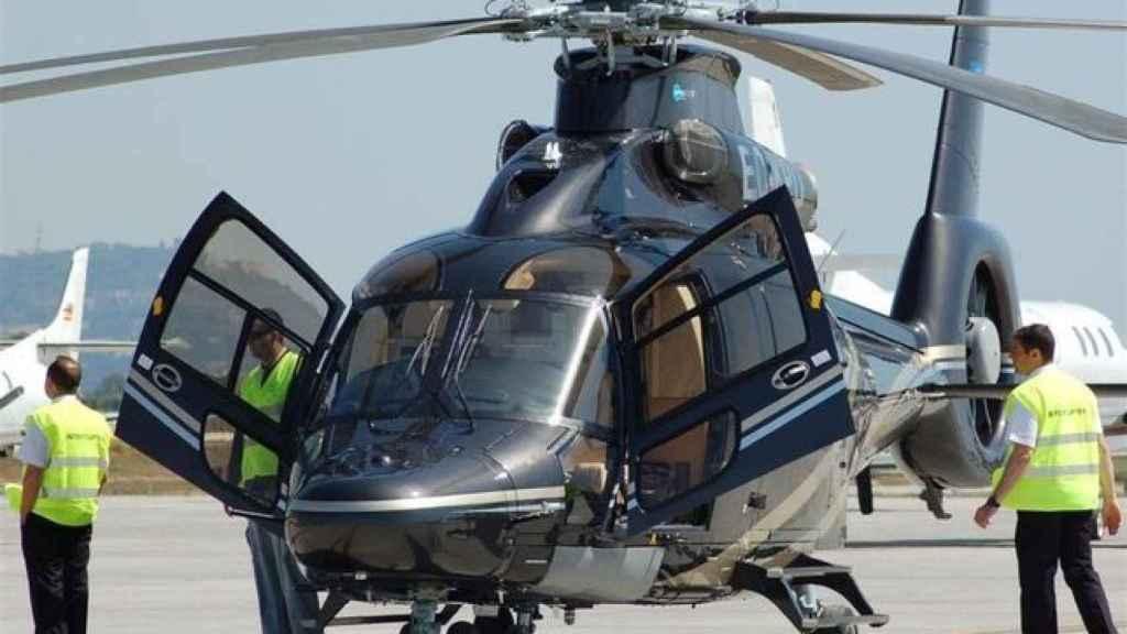 El helicóptero de lujo de 'Los Albertos'.