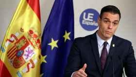 El presidente del Gobierno, Pedro Sánchez, durante su rueda de prensa de este viernes