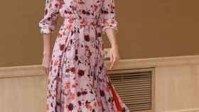 La reina Letizia en su reunión en Zarzuela con la asociación visual 'Teaf'.