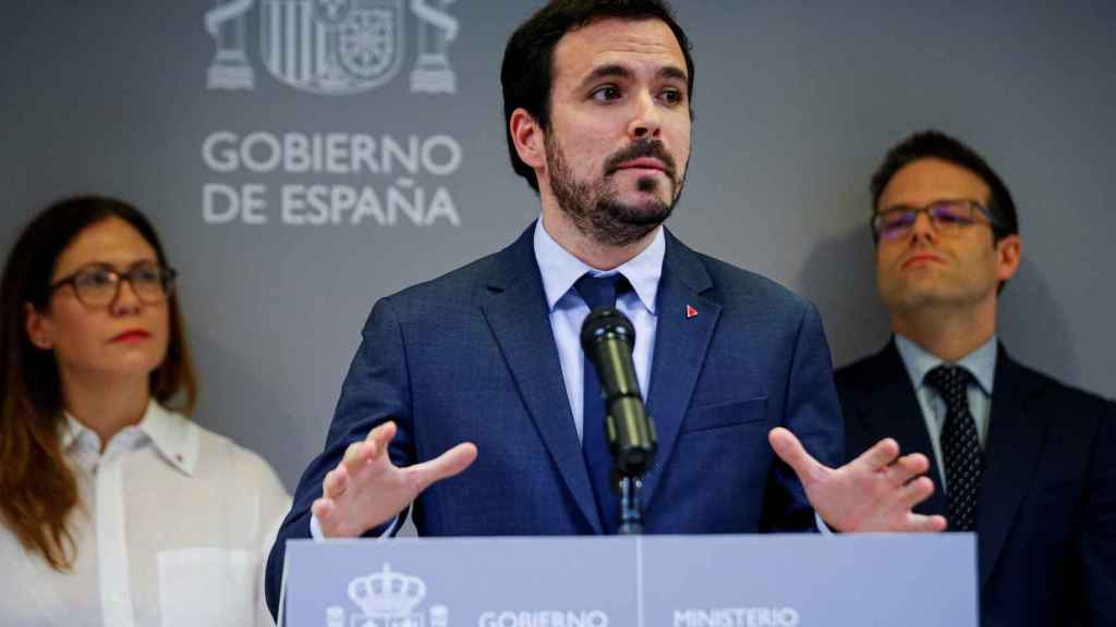 El ministro de Consumo, Alberto Garzón, este viernes en la sede del ministerio.