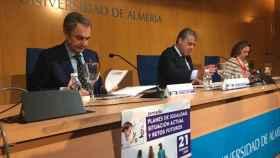 José Luis Rodríguez Zapatero este viernes en la Universidad de Almería.