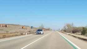 Las rayas verdes que está pintando la DGT en las carreteras españolas.