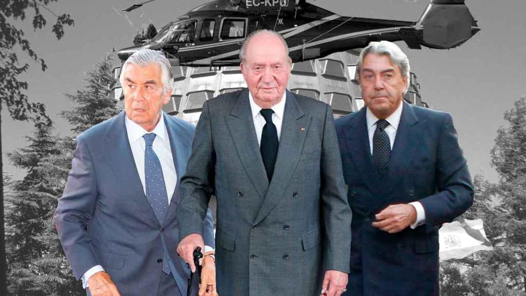 Alberto Alcocer, el rey emérito y Alberto Cortinas, de izquierda a derecha.