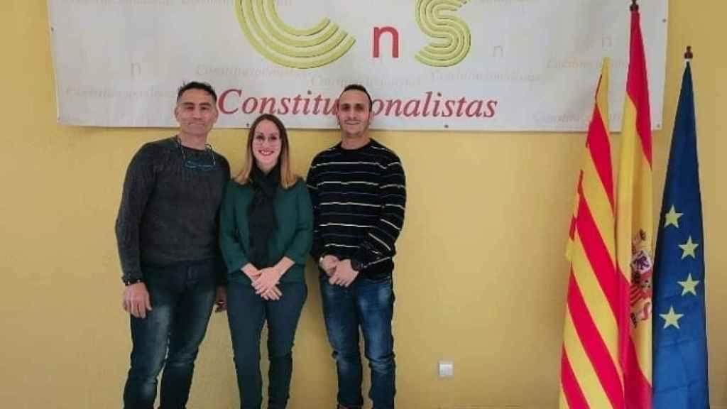 Tres de los promotores de Plataforma Osona Ciudadana.