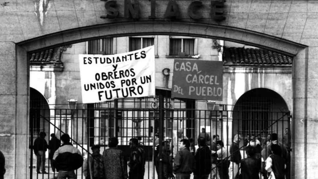 Imagen de archivo de protestas pasadas en la sede de Sniace.