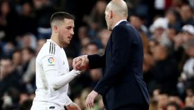 Hazard y Zidane.