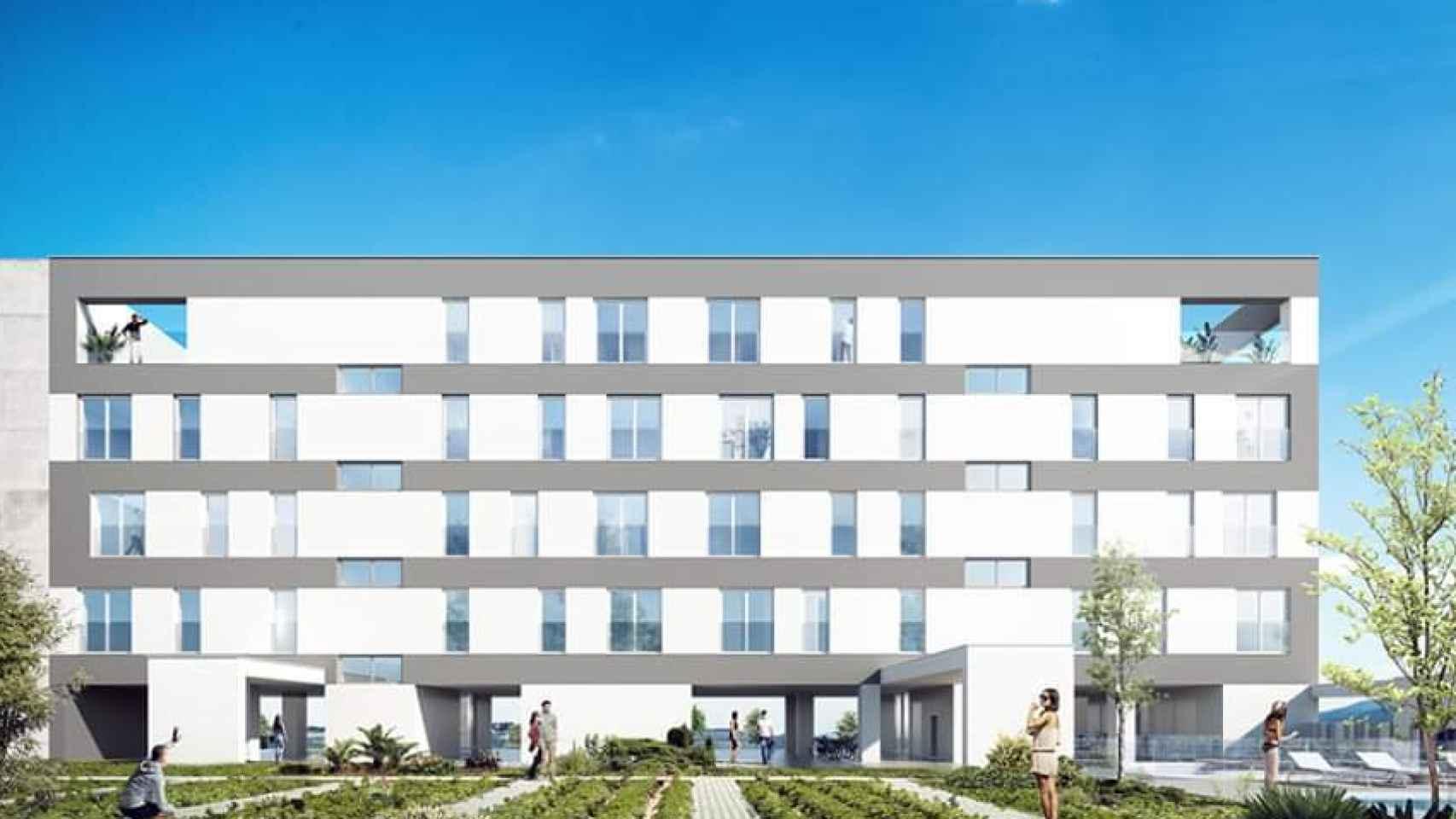 Promoción passivhaus diseñada por MDMV Arquitectos para Amenabar.
