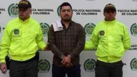 José Albeiro Arrigui, alias 'Contador', detenido por la policía colombiana.
