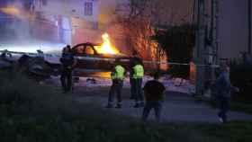 Imágenes posteriores al accidente.