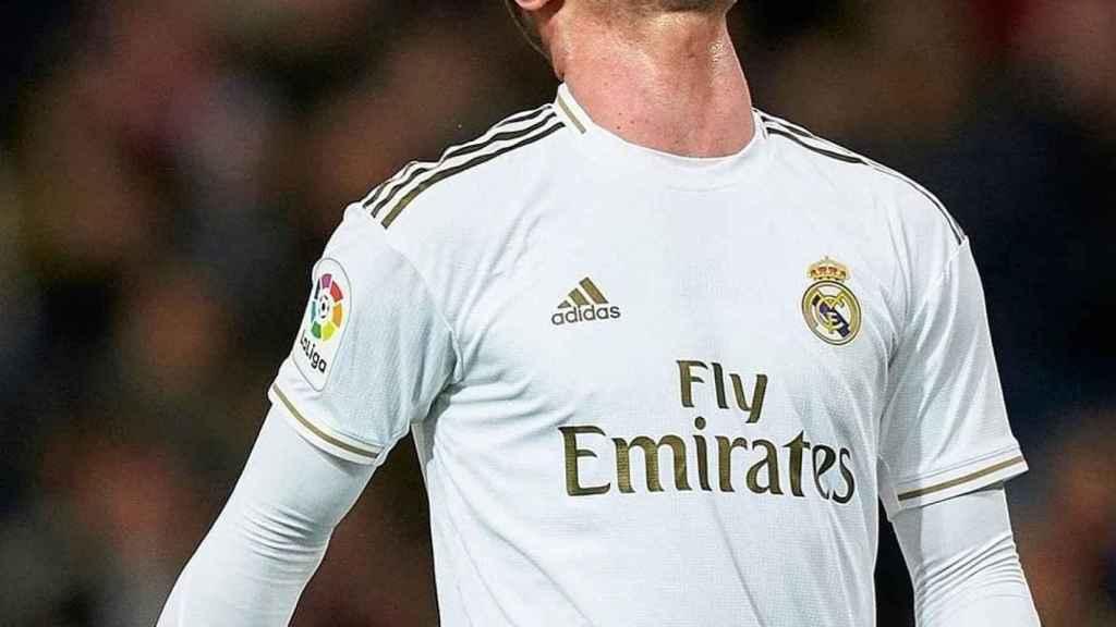Luka Jovic se lamenta durante un partido