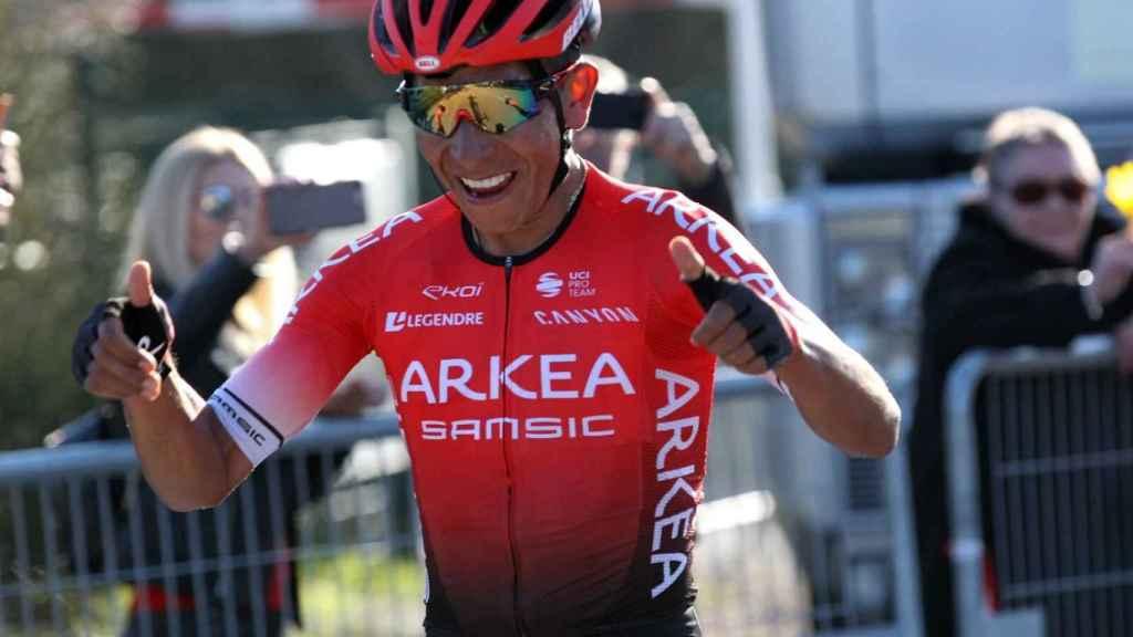 Nairo Quintana celebra una victoria con el Arkea-Samsic