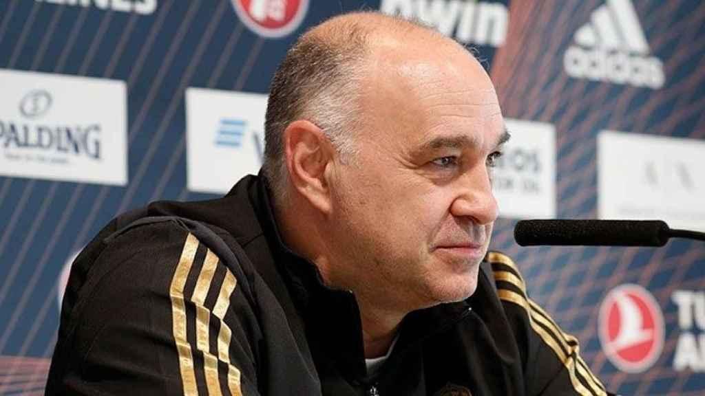 Pablo Laso, en rueda de prensa