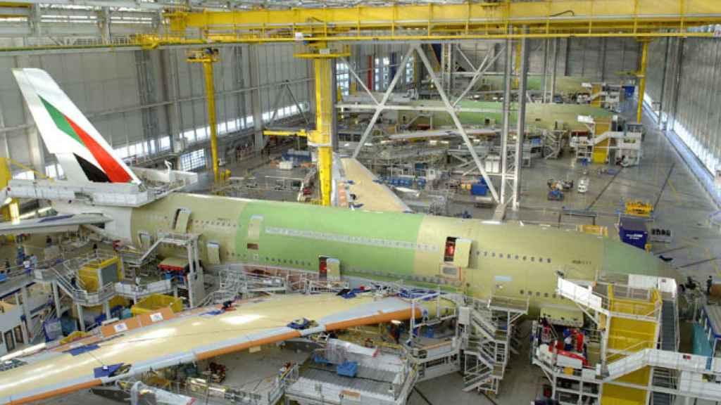 Imagen de archivo de una planta de Airbus.