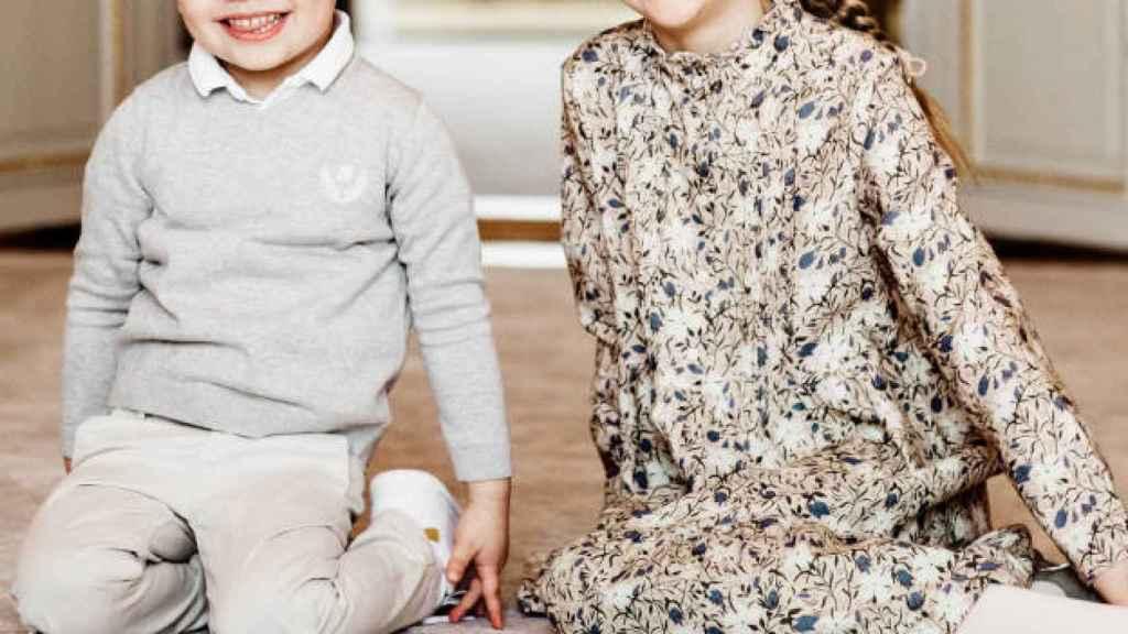 Estelle y Oscar de Suecia en su retrato oficial conjunto.