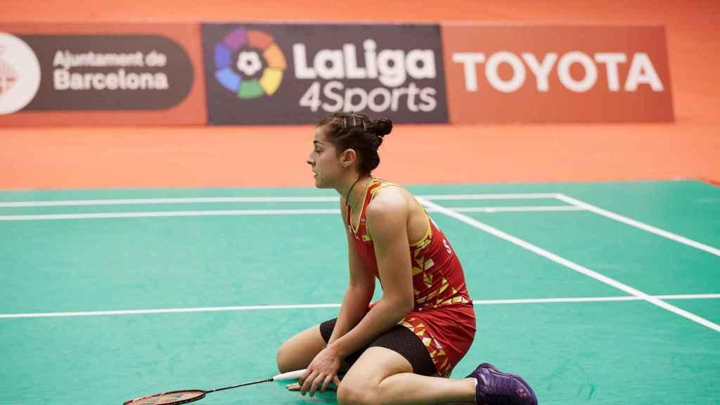 Carolina Marín, en la final del Barcelona Spain Masters