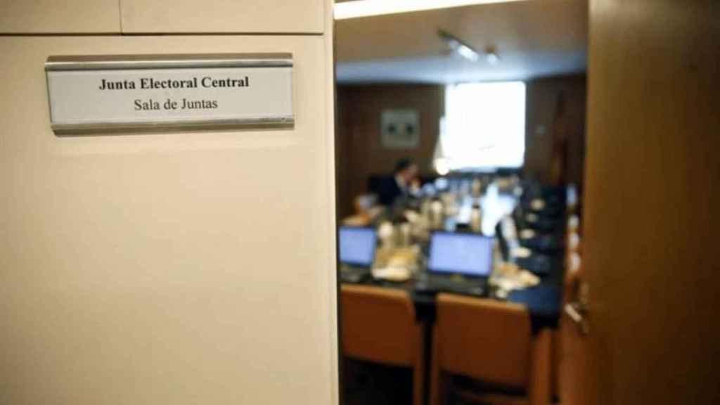 Reunión de la Junta Electoral Central, en su sede del Congreso de los Diputados.
