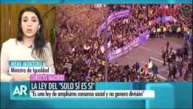Irene Montero, en su intervención televisiva que ha enfadado a Policía Nacional y Guardia Civil.