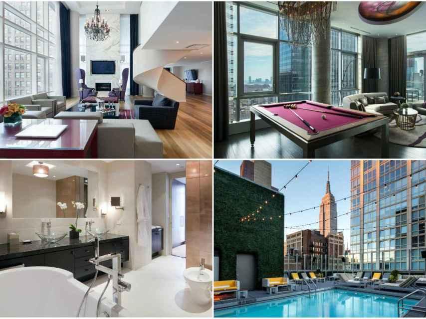Algunas de las estancias más lujosas del hotel Royalton Park Avenue.
