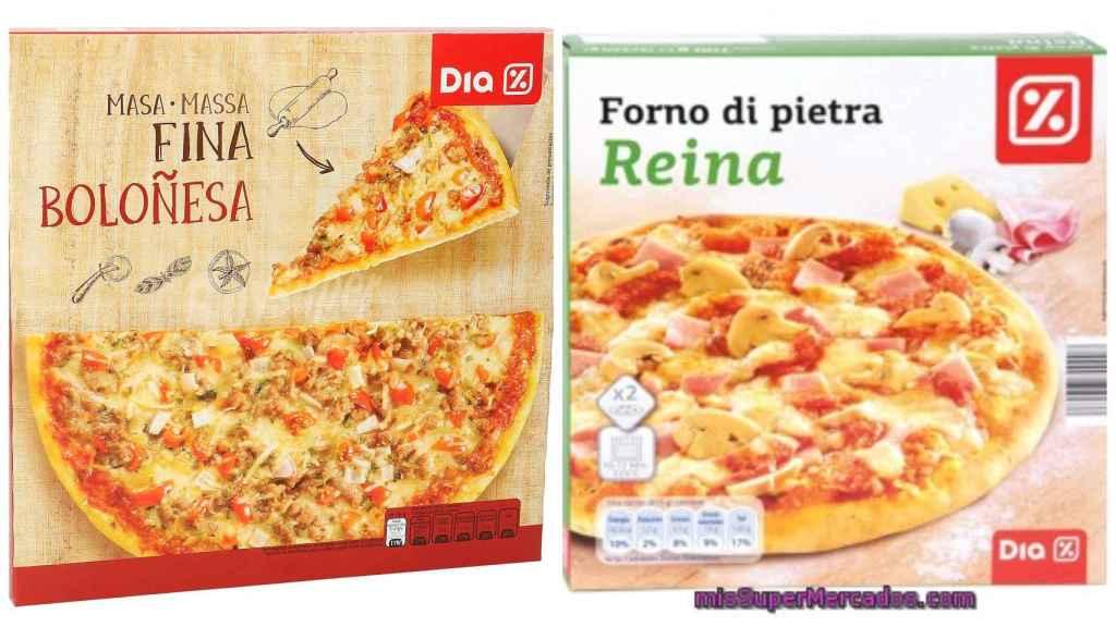 Las pizzas del supermercado español Dia.