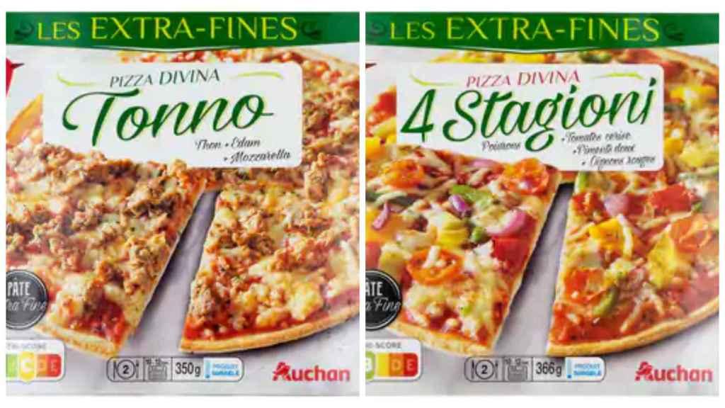 Las pizzas de Alcampo.