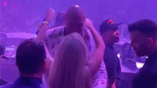 La fiesta del boxeador Tyson Fury tras ganar a Wilder en Las Vegas