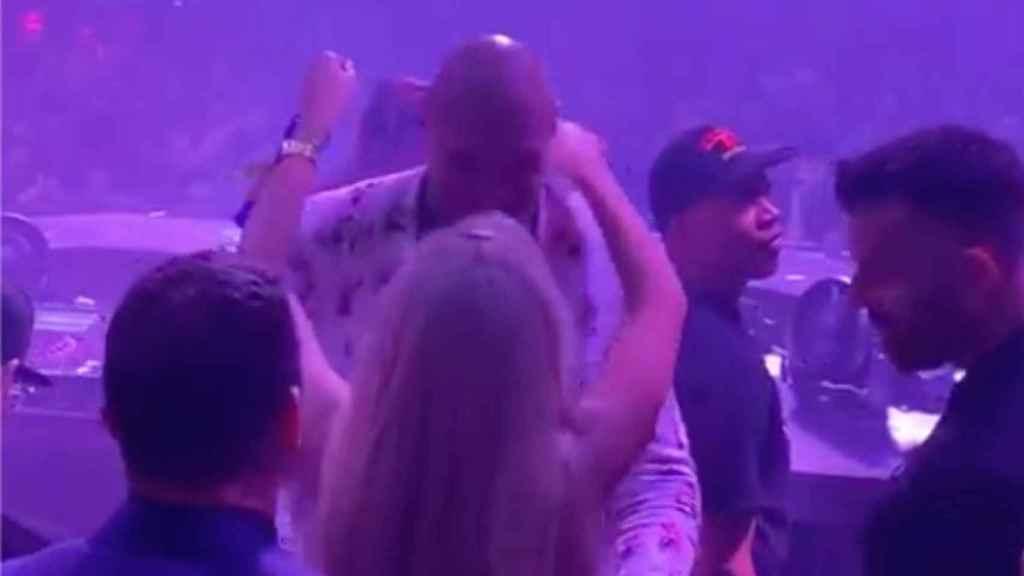 Tyson Fury durante su fiesta en Las Vegas