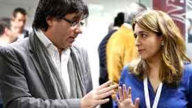 La excoordinadora del PDECat Marta Pascal junto a Carles Puigdemont en una imagen de archivo.
