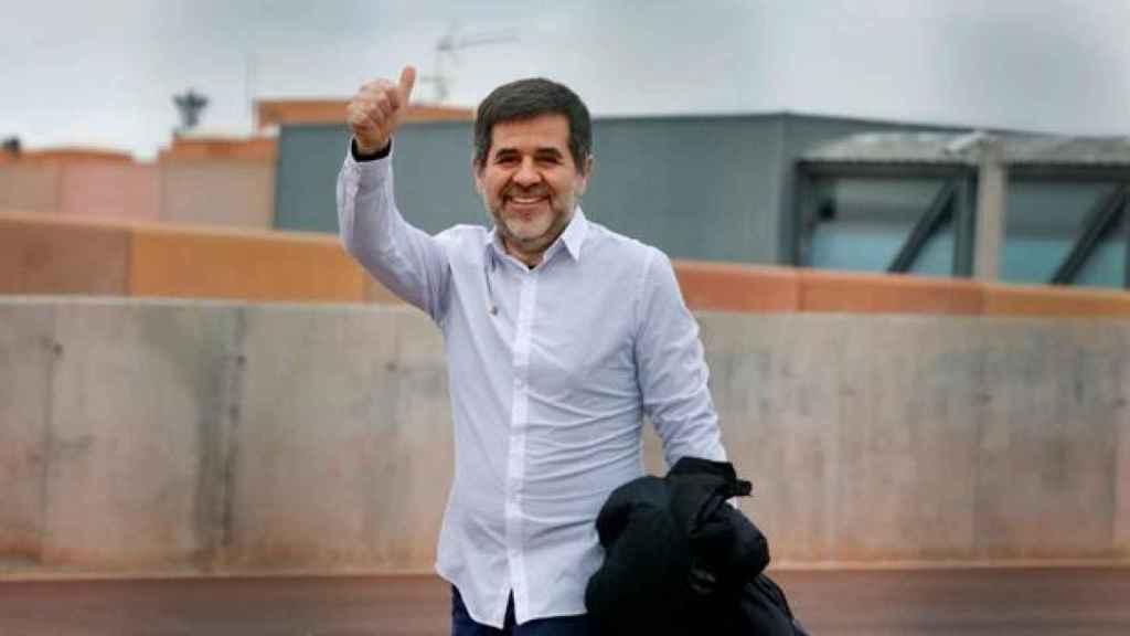 Jordi Sánchez sale de la prisión el pasado 25 de enero con un permiso./