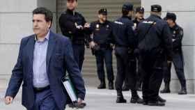 Marjaliza, tras una de sus comparecencias en la Audiencia Nacional./
