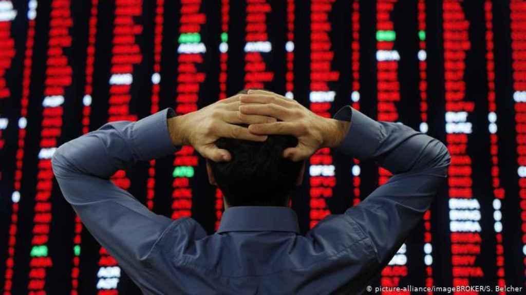 Imagen de archivo sobre el pánico en los mercados.