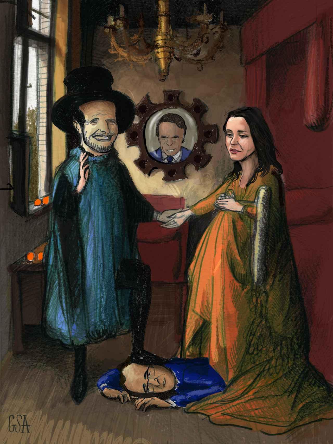 El matrimonio y Alonsini