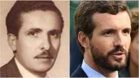 Manuel Iglesias, abuelo de Pablo Iglesias (a la izquierda) y Pablo Casado.