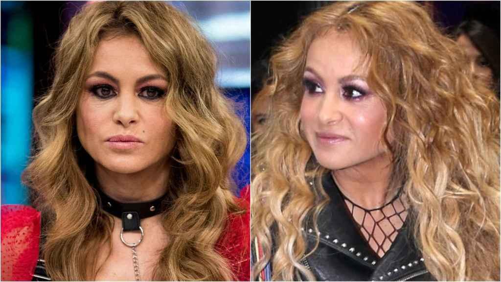 A la izquierda, Paulina Rubio en abril de 2019 y a la derecha, Paulina en febrero de 2020.