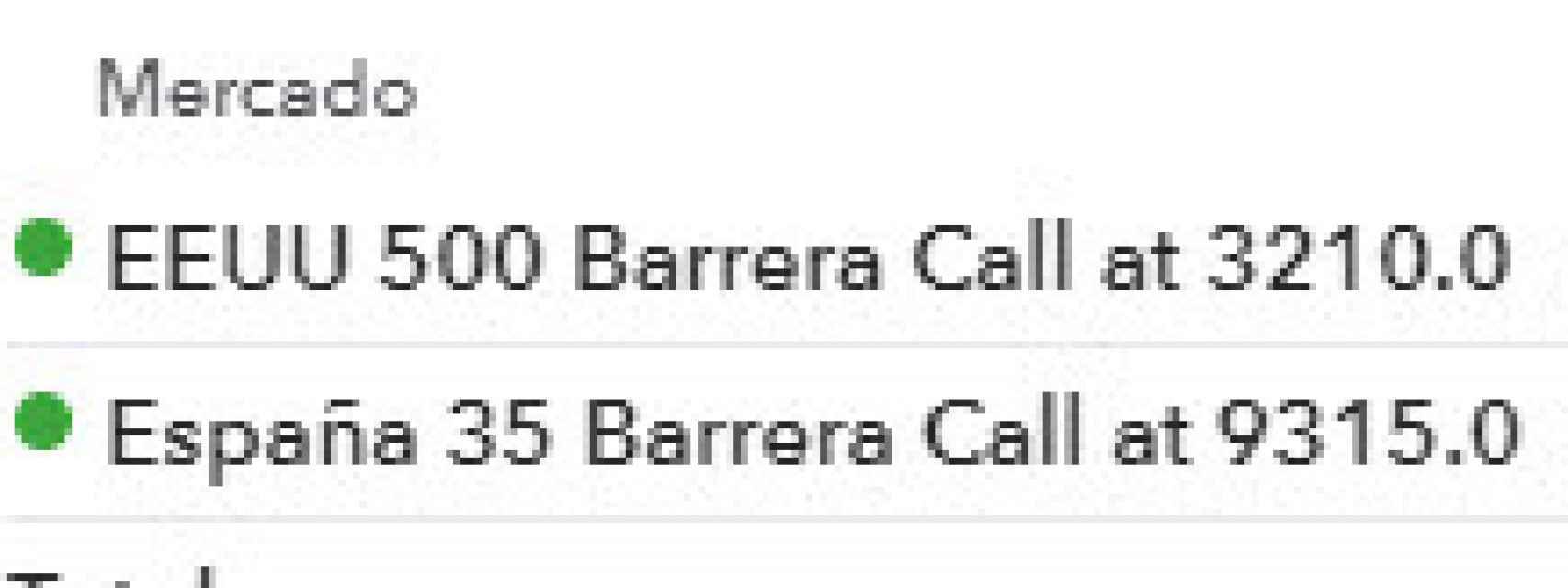 Compro opciones barrera Call