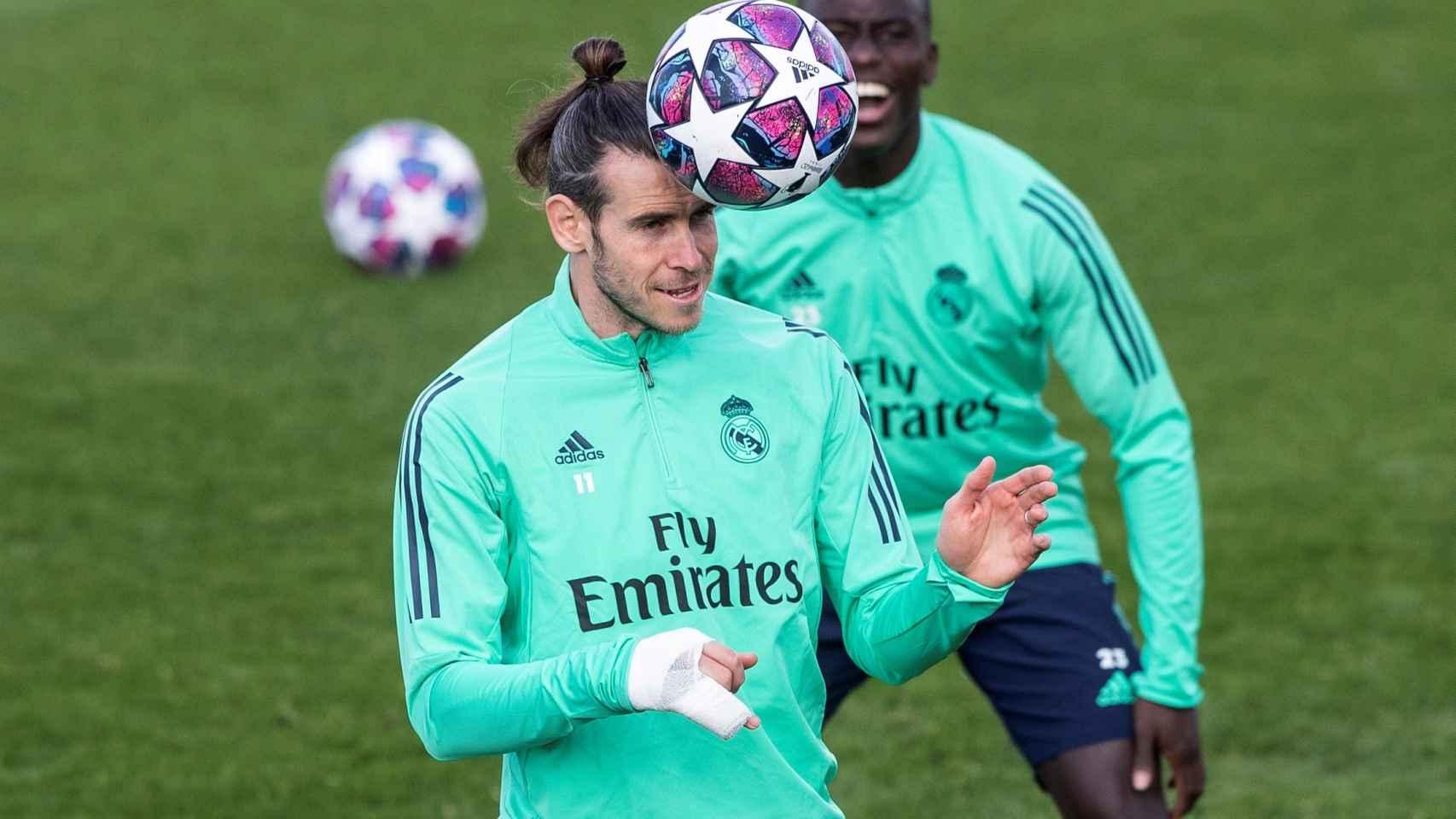 Bale, entrenando con el Real Madrid