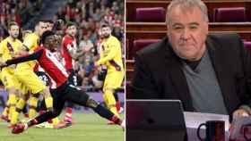 Imagen del Athletic-Barça y Antonio García Ferreras