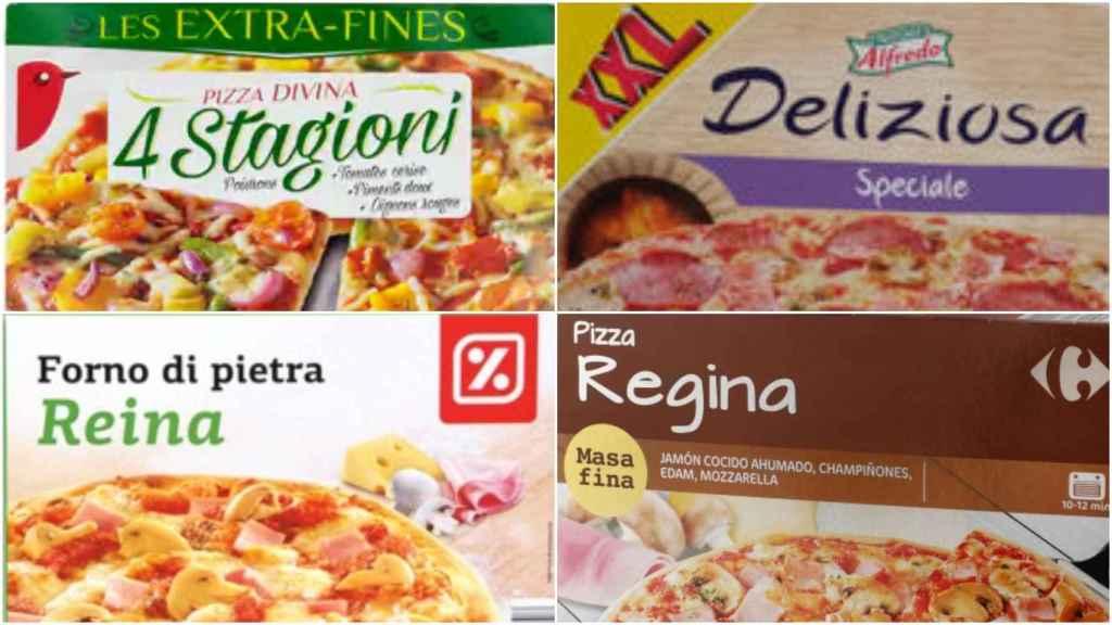 Las pizzas de Lidl, Carrefour, Aldi y Alcampo.